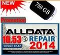 Авто Ремонт Программное Обеспечение ALLDATA 10.53 ВСЕ ДАННЫЕ Ремонт Автомобилей Программного Обеспечения с 3.0USB 750 ГБ Жесткий Диск Бесплатная Доставка