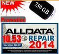 Auto Repair Software ALLDATA 10.53 ALL DATA Car Repair Software with 3.0USB 750GB Hard Disk Free Shipping