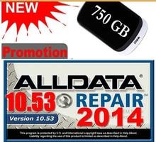 Auto-reparatur-software ALLDATA 10,53 ALLE DATEN Auto Software mit 3.0USB 750 GB Festplatte Kostenloser Versand
