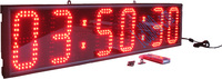 Hot sale red hours minutes and seconds wall clock led clock led display led timer high brightness 12H/24H real time clock