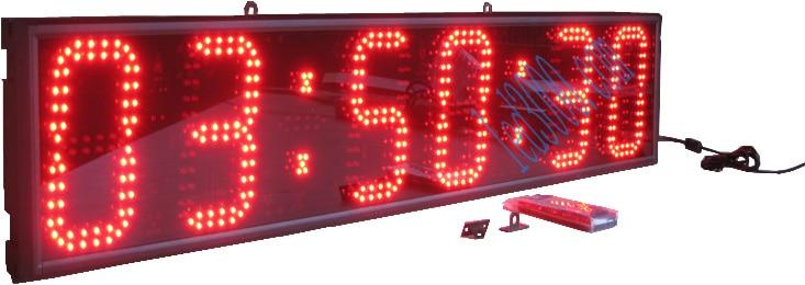 Hot koop rode uren minuten en seconden wandklok led klok led display - Huisdecoratie