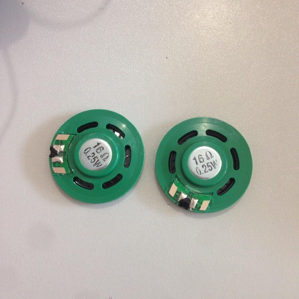 2Pcs 0.25W 16 Ohm 35mm Round Green Plastic Magnet Electronic Speaker Loudspeaker