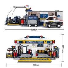HOT Building Blocks Maintenance Station Block Educational DIY Blocks  Mini Toys for Children Block Compatible with Legoes B0356