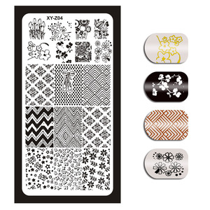 Image 5 - 12*6cm 32 Designs Geometry English Letter Nail Art Stamping Template Plates DIY Polish Print Image Plates Manicure Tools XYZ1 32