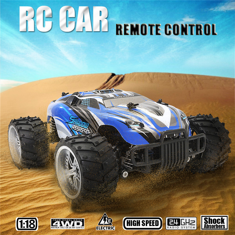 1/18 4WD 2.4GHz Radio Remote Control RC Racing Buggy Car OffRoad Rock RTR Car Crawler Off Road Gift Toy for Children Kid rc electric toy car 1 24 l333 high speed off road buggy radio remote control rtr rock rover rc toy model child best gift toy