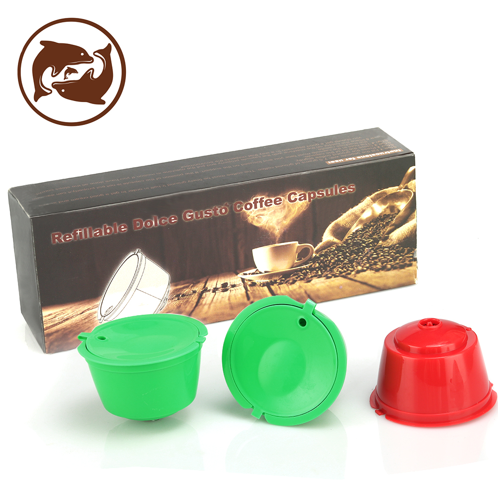 3pcs / pack 재사용 가능한 돌체 Gusto 커피 캡슐, - 주방, 식당 및 바