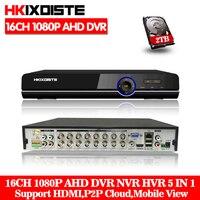 Домашнее наблюдение 16ch DVR HD AHD 1080 P 1080N 720 P Безопасность цифровой видеорегистратор системы видеонаблюдения рекордер HDMI 1080 P 16 канальный автоно
