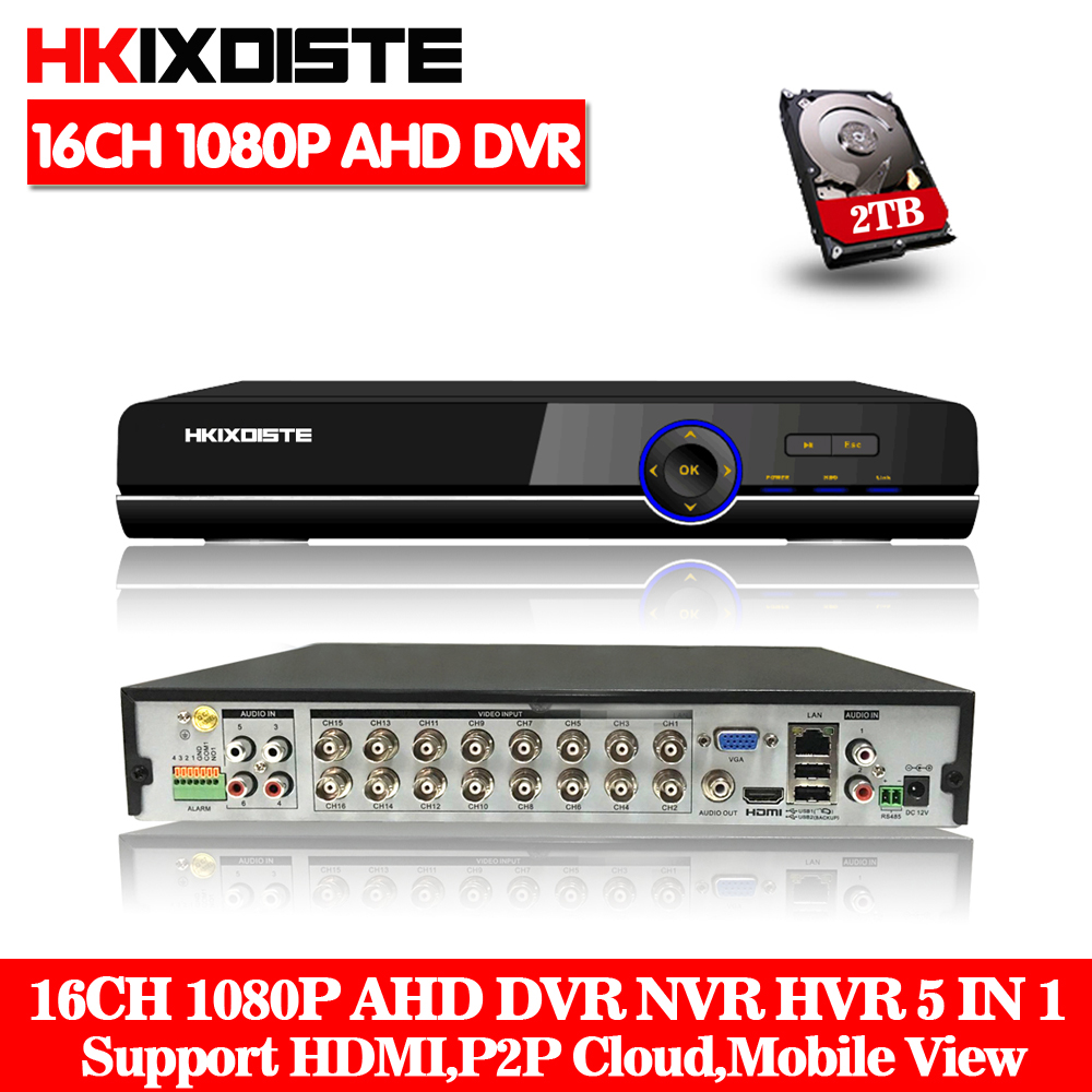 Home surveillance 16ch DVR HD AHD 1080P 1080N 720P security CCTV DVR recorder HDMI 1080P 16 channel standalone WIFI AHD DVR NVR