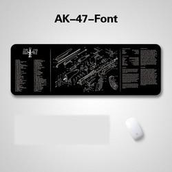 36x12 pouces GunSimth fusil pistolet nettoyage banc tapis en caoutchouc avec toutes les pièces liste impression et Instruction pour AR-15 AK47 remington 870