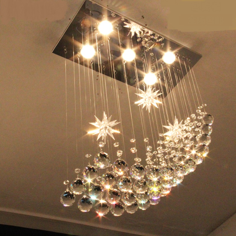 Stylish simplicity  Crystal LED pendant light bar lamp bedroom lamp living room decorated pendant lamps ZA10