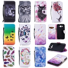 ФОТО lion animal wallet leather cover for huawei p smart case luxury phone etui for huawei y3 2017 flip funda for huawei y5 2017