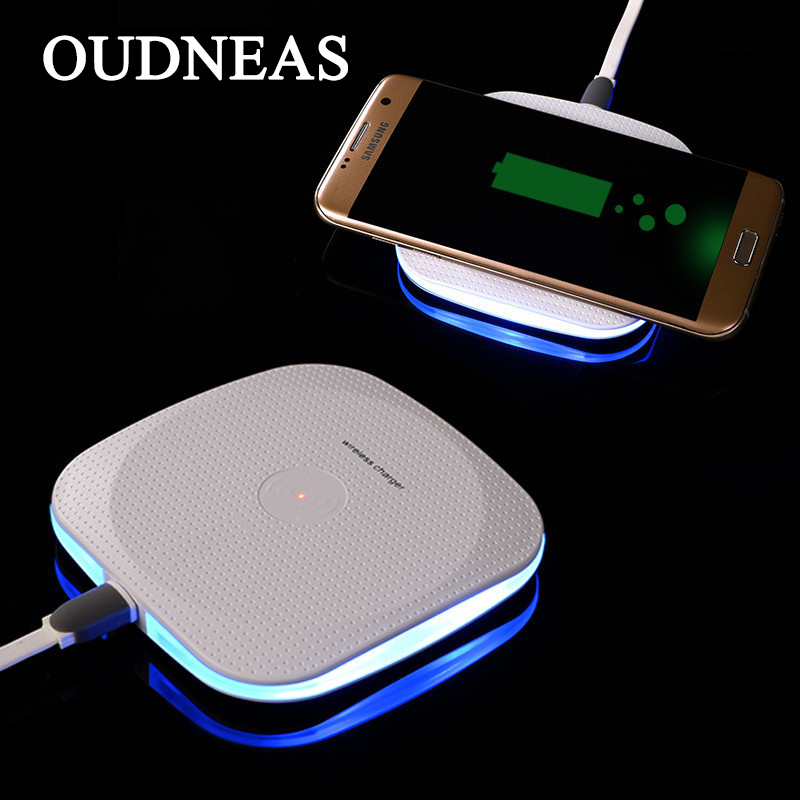oudneas qi wireless charger for samsung galaxy s7 edge s8. Black Bedroom Furniture Sets. Home Design Ideas
