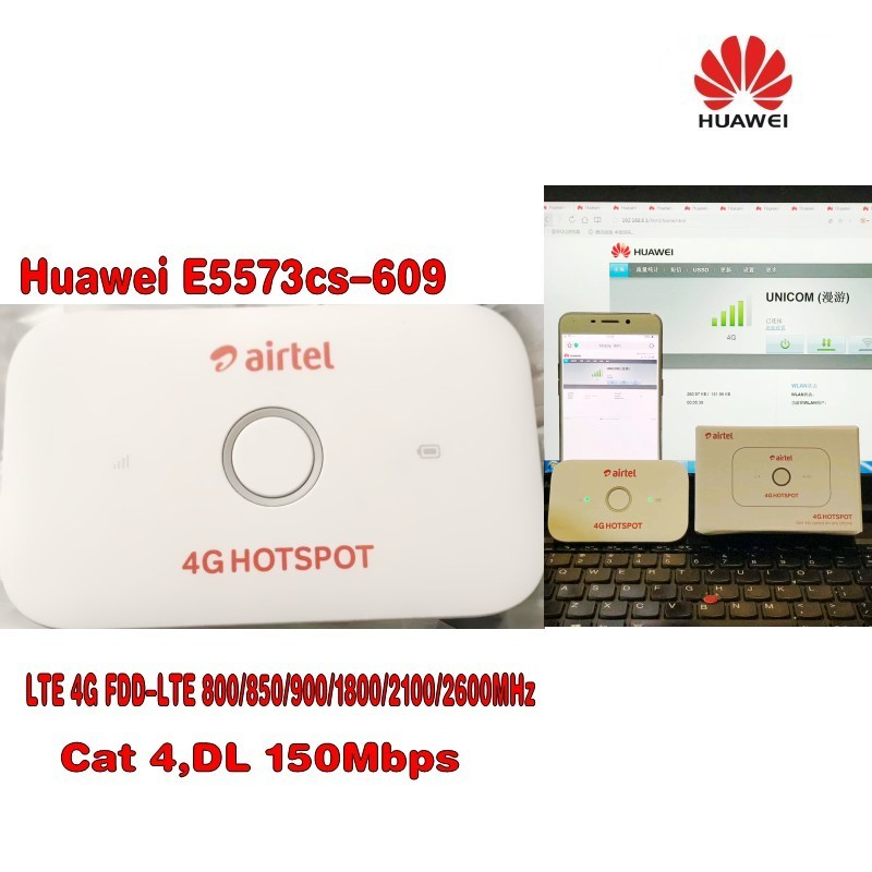 150Mbps Huawei E5573 E5573Cs-609 Portable 4G LTE Pocket WiFi Router Support LTE TDD And FDD Network hot sale original unlock lte fdd 150mbps huawei e5577 4g lte mobile wifi router support lte fdd and tdd network