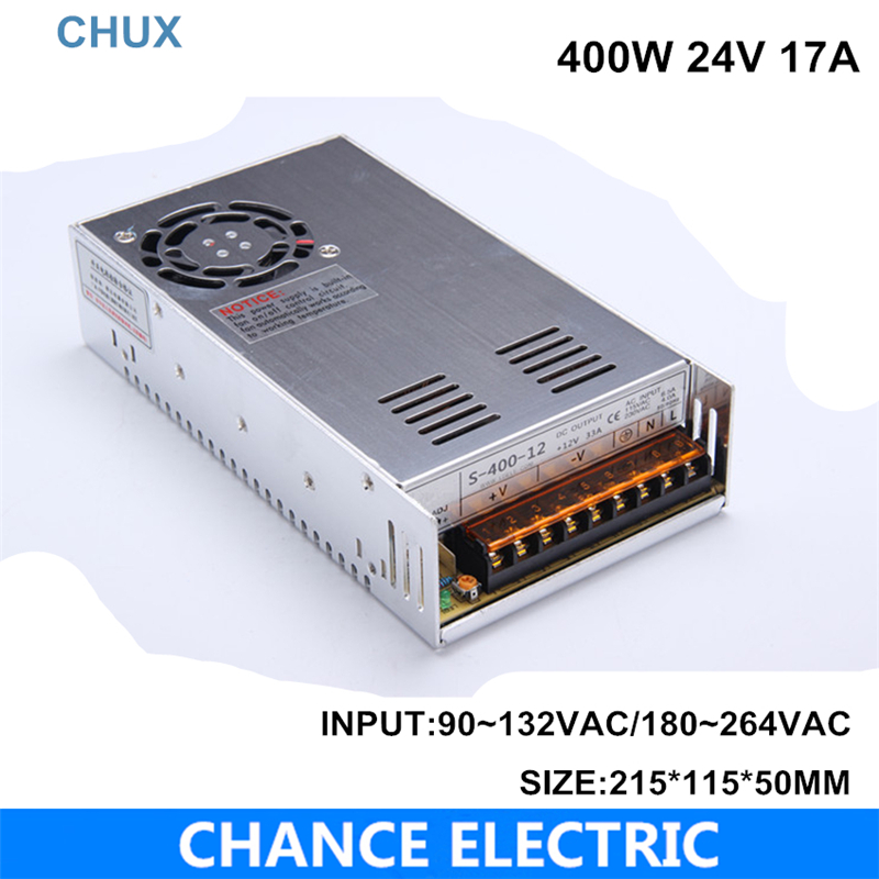 switching power supply 24V 17A 400W single output input LED transformer 220v 110v AC to DC 24V for cctv led light 400w led switching power supply 24v 16 7a 85 265ac input ce rosh power suply 24v output