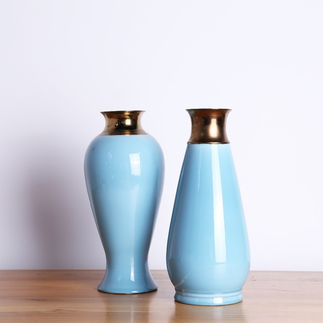 Simple round ceramic diamond blue chinese style tabletop flower vase simple round ceramic diamond blue chinese style tabletop flower vase home wedding decorative accessories junglespirit Image collections