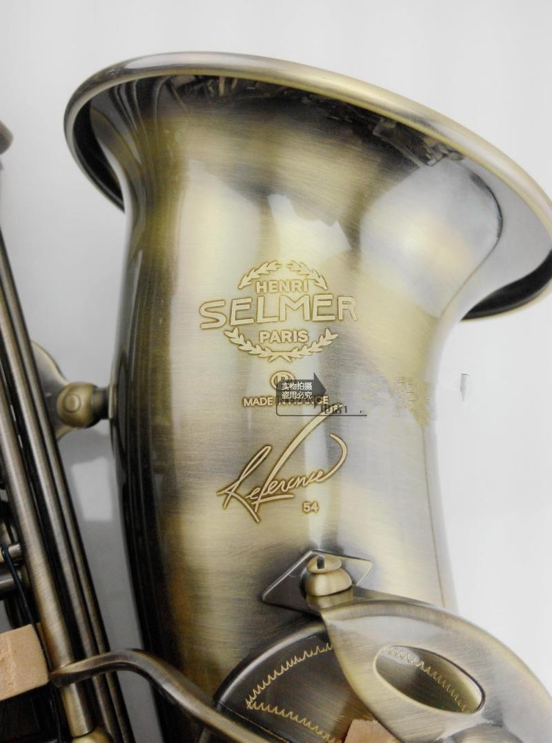 France SELMER Model High quality instruments Saxophone Alto Antique copper Alto saxophone Professional Saxophone manufacturer brand new nickel plated saxophone high quality saxophone alto french selmer instruments r 54 model saxofone sax accessories