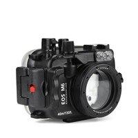 SeaFrogs 40 м/130ft подводный корпус для камеры Canon EOS M6 22 мм камеры с объективом DSLR сумка