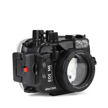 SeaFrogs 40m/130ft Underwater Camera Housing Case For Canon EOS M6 22mm Lens DSLR Camera Case Bag цена и фото