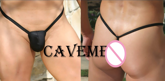Cavemen official Mine cool T-back*1153*sexy men lingerie T-Back Thong G-String T pants Brief Underwear free shipping