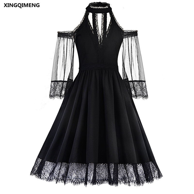 In Stock Sexy Cocktail Dresses With Long Sleeve Lace Elegant Short
