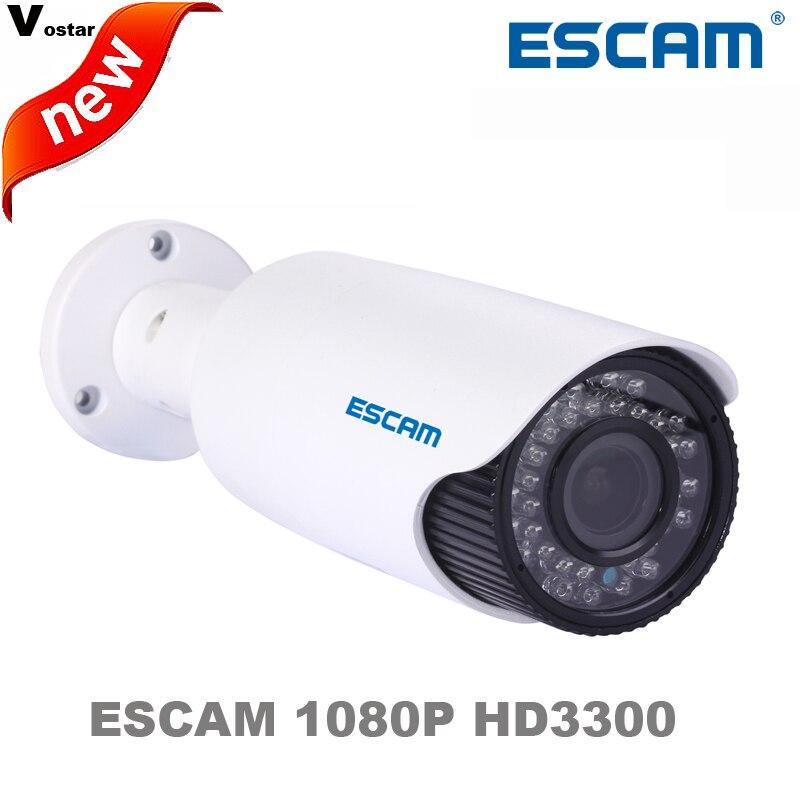 free shipping Escam HD3300V zoom 2 8 12mm lens MINI bullet Onvif IP66 Waterproof network camera