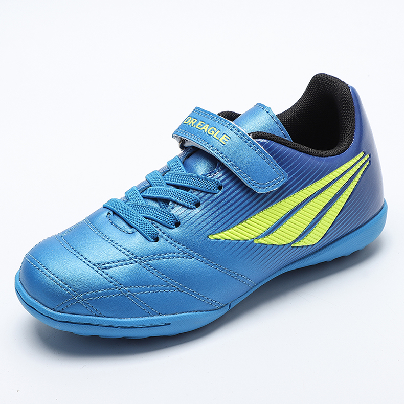Kid Shoes Football Sneakers Blue Red Comfortable Children Soccer Footwear Outdoor Boys Girls Sport Trainer Lightweight