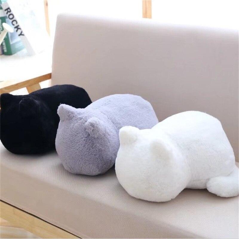 1 stücke Nette Weiche Katze Gefüllte Kissen Schöne Kawaii Tier Plüsch Schatten Katze Plüsch Spielzeug Für Kinder Geschenk Hause Dekoration