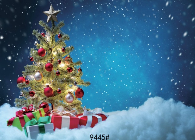 Christmas Tree Background 7x5ft Snow Photography Backdrops