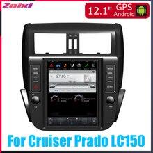 ZaiXi 12.1 Vertical screen android car gps multimedia video radio player in dash for Toyota Land Cruiser Prado LC150 2009~2014