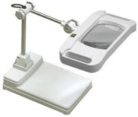 Masaüstü Büyüteç işıklı kozmetik onarım eski okuma beyaz cam lens ile devre kurulu 10X kat işık büyüteç