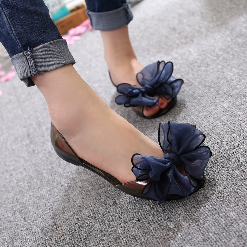 Fashion Jelly Sandals Sweet Bowknot Women Sandals Summer Jelly Shoes Crystal Transparent Shoes Women Flats Beach Ladies ShoesFashion Jelly Sandals Sweet Bowknot Women Sandals Summer Jelly Shoes Crystal Transparent Shoes Women Flats Beach Ladies Shoes