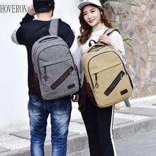 Trend Men and Women Backpacks College Wind Canvas School Bag Casual Computer Travel Shoulder Unisex Sports