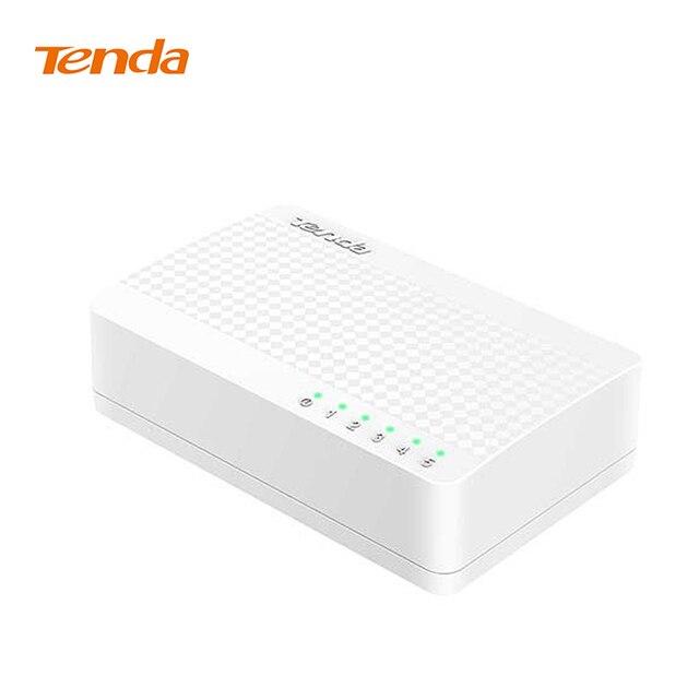Tenda S105 Ağ Anahtarı 5 Bağlantı Noktası 10/100 Mbps Hızlı Ethernet RJ45 Switcher Lan Hub MDI Tam/Yarım dubleks değişim Küresel garanti