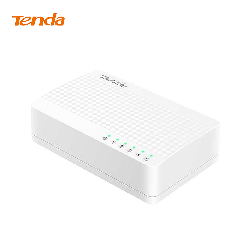 Tenda S105 Network Swich 5 Ports 10 100Mbps Fast Ethernet RJ45 Switcher Lan Hub MDI Full Half duplex exchange  Global warranty