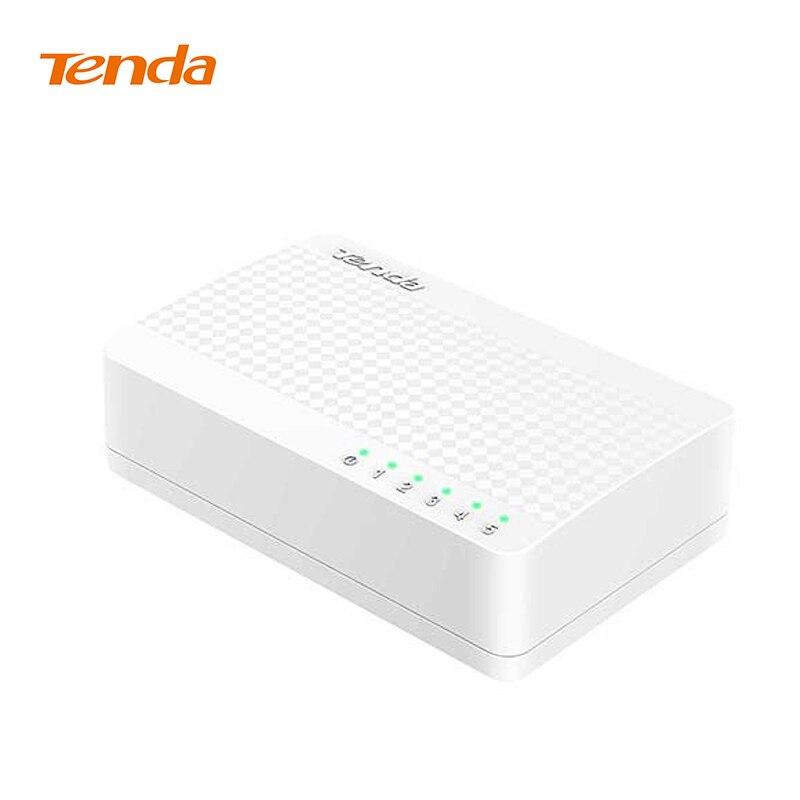Tenda S105 Netzwerk Swich 5 Ports 10/100 Mbps Fast Ethernet RJ45 Switcher Lan Hub MDI Voll/duplex austausch Globale garantie