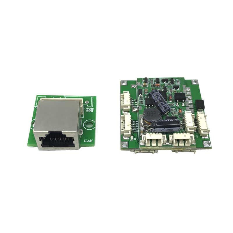 Buck POE modülü anahtarlama paneli 802.3af/AT portu güç kaynağı 30w48v ip kameralar nvr ip telefon 4 poe anahtarı PD ayırma buck 12 v