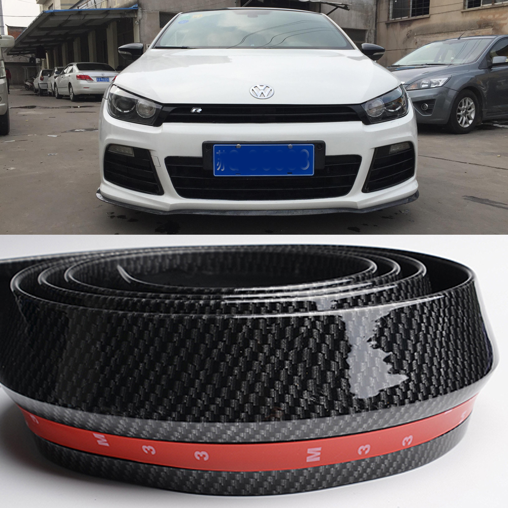 Online get cheap subaru front spoiler aliexpress alibaba group front bumper lip splitter protector body spoiler valance chin rubber for vw polochina vanachro Image collections