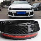 Front Bumper Lip Splitter Protector Body Spoiler Valance Chin Rubber for vw polo