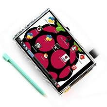 NICE HD 3.5 Inch LCD Touch Screen with Stylus Pen for Raspberry Pi 3 Pi 2 Model B(China)