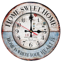 2017 Top Sale Wall Clock Wooden Clocks Home Decor Quartz Watch Single Face Still Life Stickers
