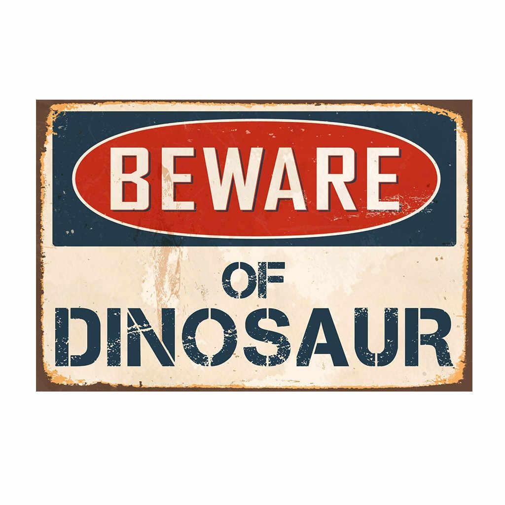 Настенная Наклейка американский стиль Остерегайтесь акулы динозавра металлическая гирлянда доска бар клуб кафе-гараж Настенный декор #5