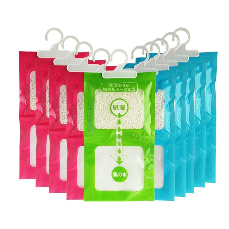 10pcs/lot Wardrobe Drying Wet Absorber Bags Desiccant  Moisture Absorber Dehumidifier