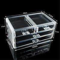 11 11 Sale 4 Drawer Stand Acrylic Makeup Box Cosmetic Organizer Drawer Holder Clear Cabinet Storage