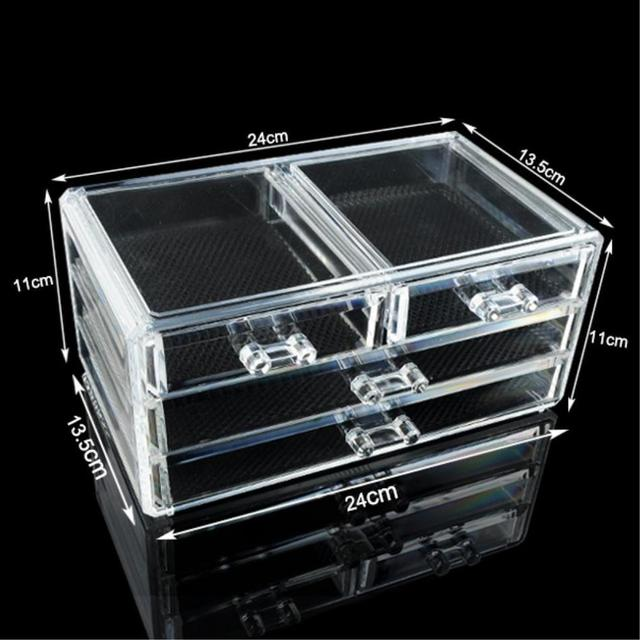 Sale 4 Drawer Stand Acrylic Makeup Box Cosmetic Organizer Drawer