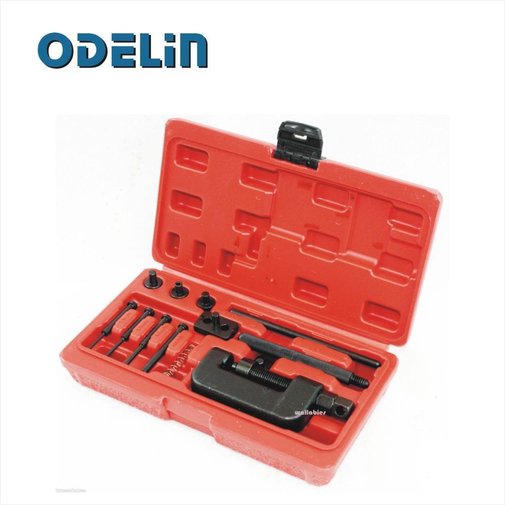 Chain Breaker Riveting Tool Kit Cutter ATV Bike Motorcycle Cam Drive w Case