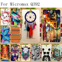 Anunob Phone Cases For Micromax Q392 Case Canvas Power 2 Juice 3 Cover Silicon Soft TPU Shell Painted Funda Housing Bumper 5.0