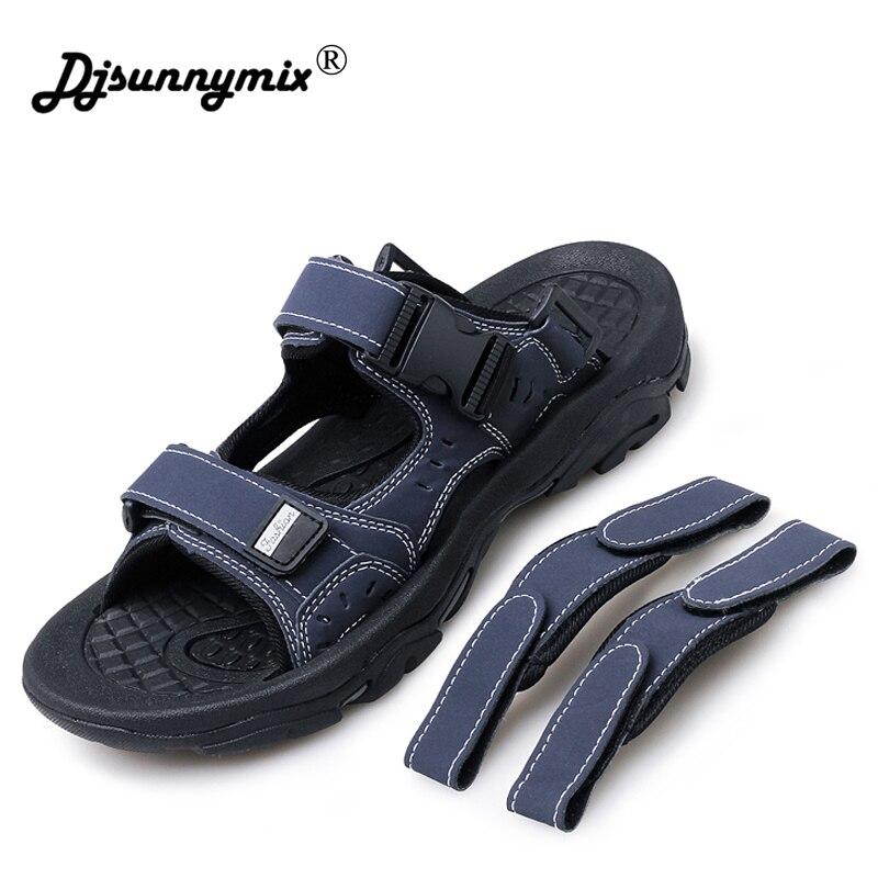 ffb0fe58cb Djsunnymix dos Homens Sapatos de Verão Sandália de Praia Sapatos ao ar  Sandálias Homens Causal Livre à Prova d  Água