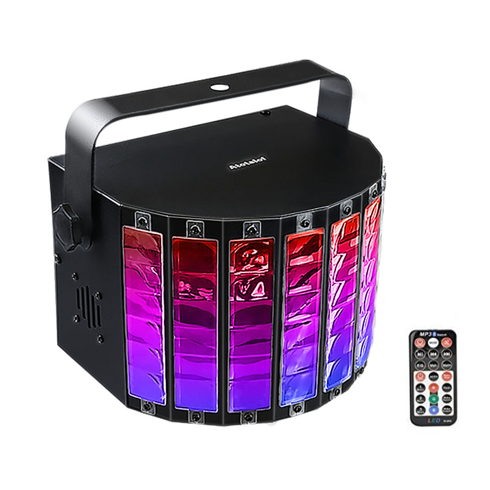 MP3 Bluetooth LED Stage Light 18W 9 Colors Sound Activated Disco DJ Light with Remote Control Bar Wedding Bar Music Stage Light pink colors 70 16cm flash car sticker music rhythm led el sheet light lamp sound music activated equalizer