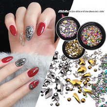 1Box New York Storm Mixed Size Colorful Rhinestones for Nails 3D Crystal Stones Nail Art Decoration DIY Design Manicure Diamonds