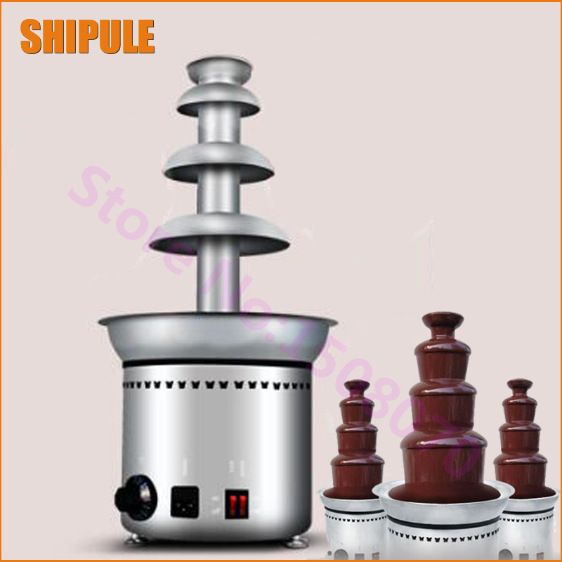 Factory price commercial chocolate fountain machine stainless steel 4 layers fountain chocolate machine for sale fast shipping food machine digital chocolate melting machine stainless steel chocolate machine household and commercial